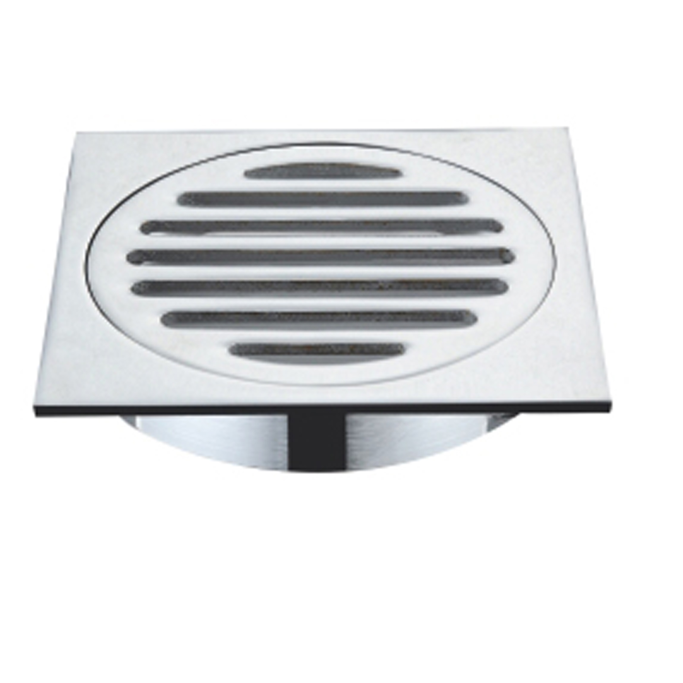 Chrome Finish Square Floor Drain Waste With 110x110x100mm