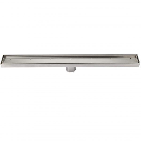 600mm 316 stainless steel shower grate with tile insert