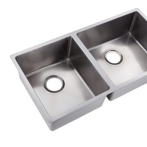 3/4 double bowl hand made stainless steel kitchen sink