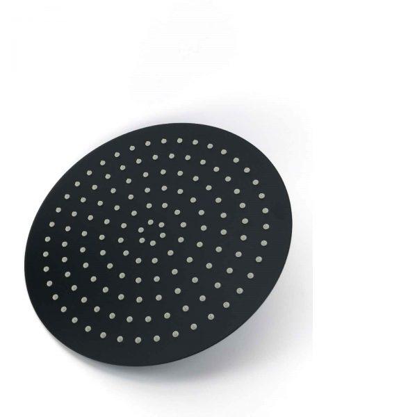 300mm round matt black stainless steel shower head