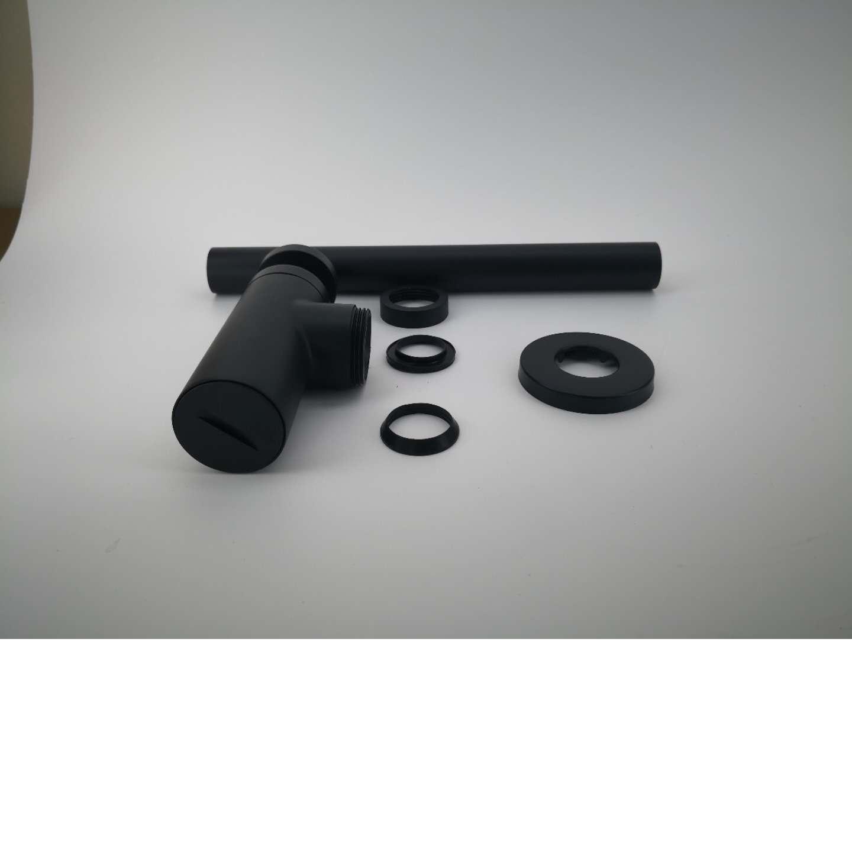 32mm Black P Trap Vanity Basin Sink Round Bottle Trap