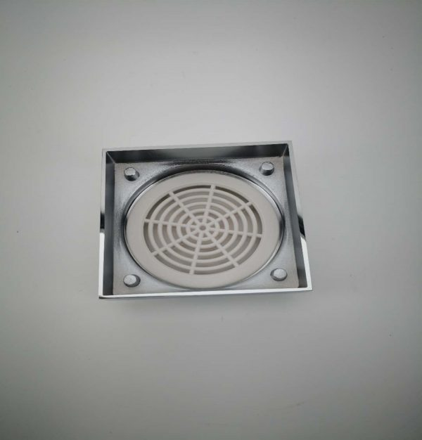 100mm square tile insert floor drain shower grate
