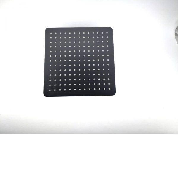 Black square shower head