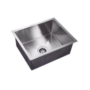 304 Handmade stainless steel single undermount kitchen sink 550mm
