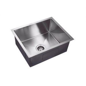 304 Handmade stainless steel single undermount kitchen sink 550mm