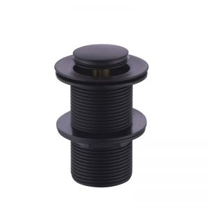 Matt black basin pop up plug and waste 32mm with 40mm adapter with out overflow