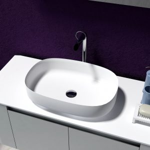 Lila above counter solid surface stone basin