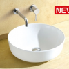 Dala round above counter smooth surface basin