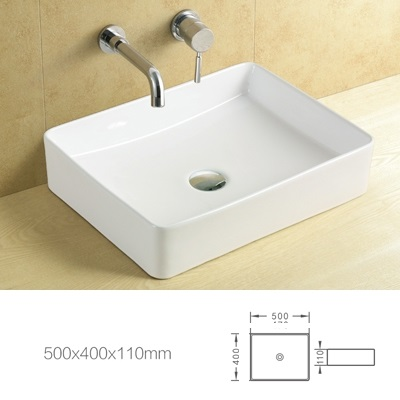 Arrow rectangular above counter basin