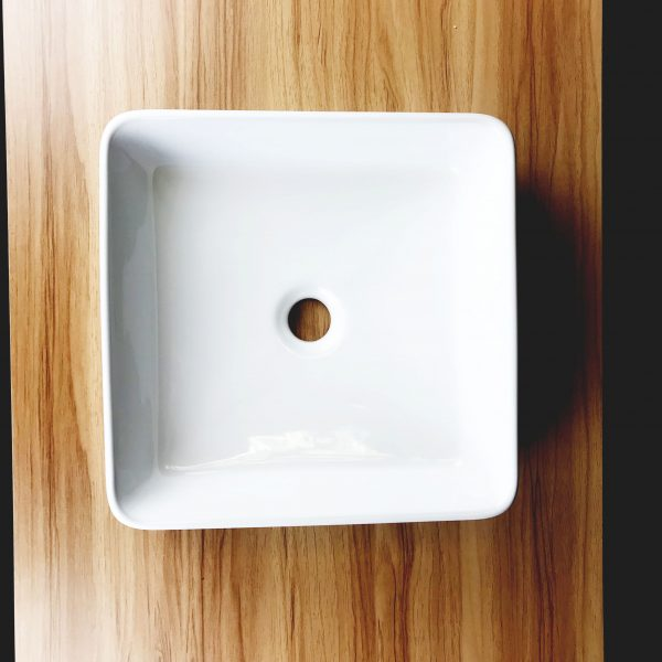Arrow square above counter top basin