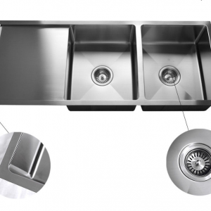 304 STAINLESS STEEL DOUBLE BOWL TOP MOUNT KITCHEN SINK