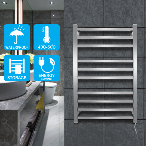 square10 heat rods heated towel rail