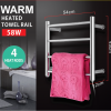round 4 heat rods heated towel rail