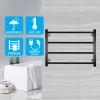 square 4 heat rods heated towel rail