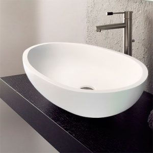 Luxury Egg shape Solid Surface Stone Basin