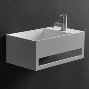 Solid surface Powder Room Stone Wall Hung Basin