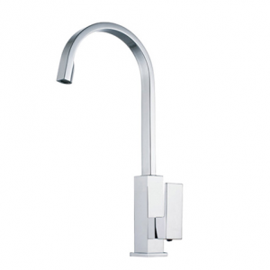 VIBE GOOSE NECK SQUARE KITCHEN LAUNDRY SINK MIXER