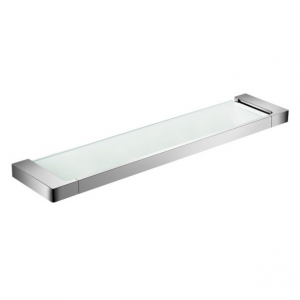 ASTRA glass shower shelf Chrome/Matt black