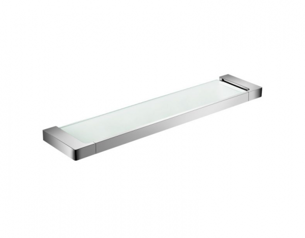 ASTRA glass shower shelf Chrome/Matt black